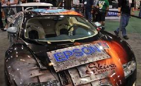 Epson wrap on Bugatti Veyron auto