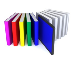 Tablet PC and books