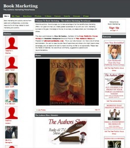 Screenshot of Book Marketing