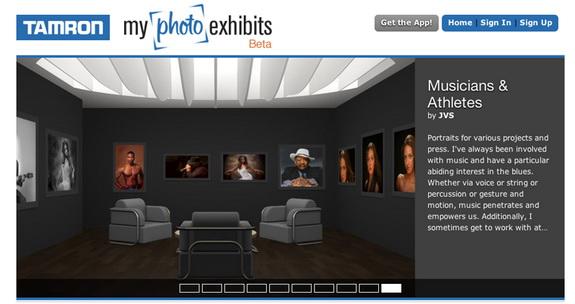 Screen shot of Tamron My Photo Exhibit