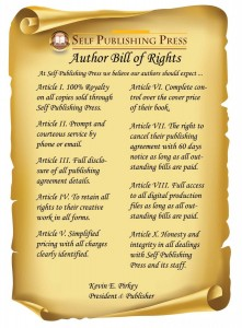 Self-Publishing Press Authors Bill of Rights