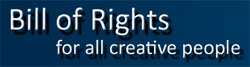 Logo for Bill of Rights for Creative People