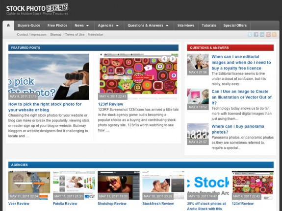 Screen shot of StockPhotoSecrets