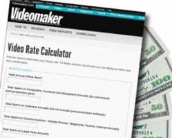 Rate Calculator Helps Freelance Videographers Set Prices