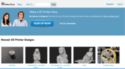 MakerShop Website Screenshot