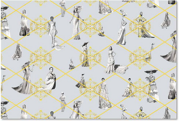 """Still Couture"" by Sandra Bermudez for Fine Art Wallpapers, a division of Kasia Kay Art Projects, www.fineartwalllpapers.com"