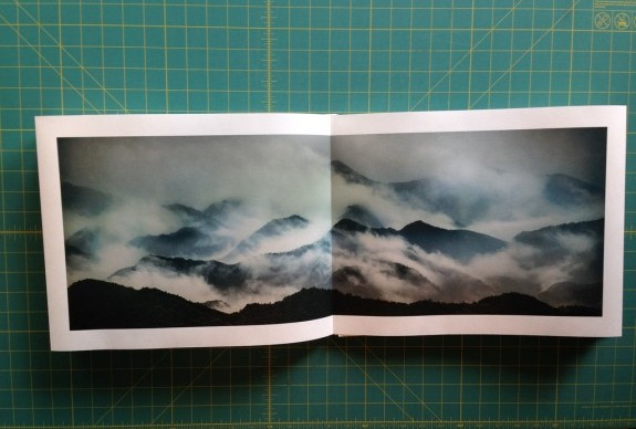 The center spread of the limited-edition Kumano Kodo portfolio crafted by Harold Davis and Phyllis Davis. Photo: ©Harold Davis