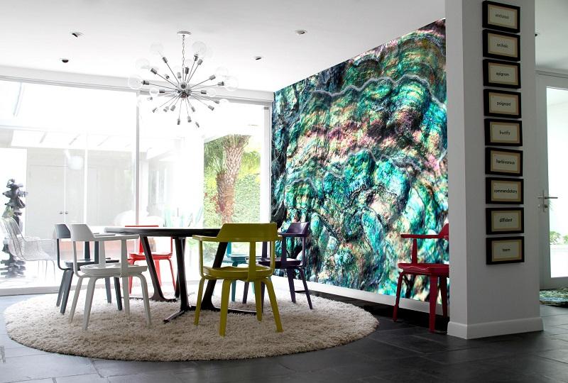 Quartz art wallcovering